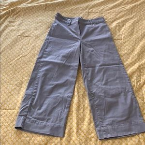 LOFT Size 2 Wide Leg Crop Pants in Grey